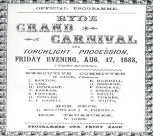 The Original Carnival Programme from 1888